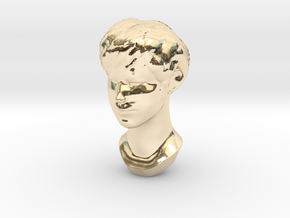 Female Head 2 in 14K Yellow Gold