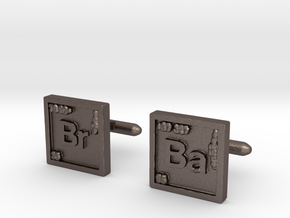 Breaking Bad: Cufflinks in Polished Bronzed Silver Steel