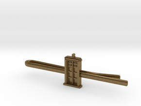 Doctor Who: TARDIS Tie Clip in Natural Bronze