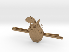 Totoro Tie Clip in Natural Brass
