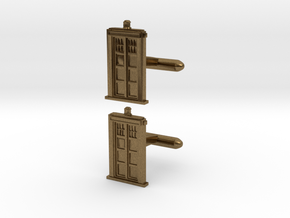 Doctor Who: TARDIS Cufflinks   in Natural Bronze
