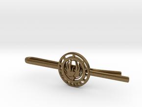 Battlestar Galactica Tie Clip   in Natural Bronze