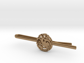 Game of Thrones: House Targaryen Tie Clip in Natural Brass