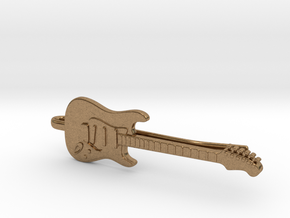Guitar Tie Clip in Natural Brass