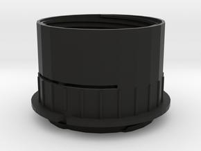 Diy M43 Lens V20 For Shapeways -- Main Body in Black Strong & Flexible