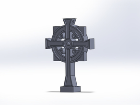 Secret Stamp Cross in Matte Bronze Steel