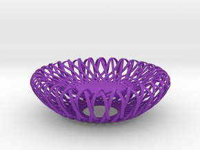 Woven Bowl in Purple Strong & Flexible Polished