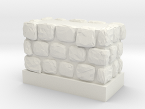 Dungeon 1x2 Wall Block in White Natural Versatile Plastic