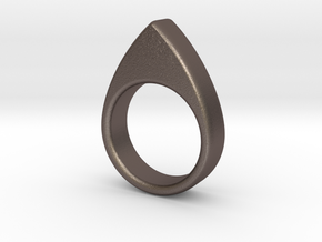 Ring2 Size 7 in Polished Bronzed Silver Steel
