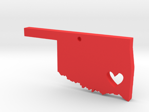 Oklahoma Love Pendant in Red Strong & Flexible Polished