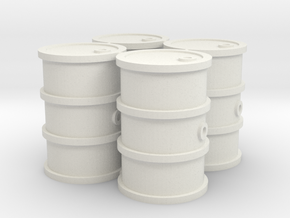 28mm scale oil barrels. in White Natural Versatile Plastic