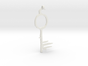 Lucifer's Key to Hell, from Sandman in White Natural Versatile Plastic