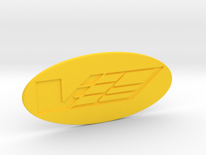 V Logo for the Airaid intake in Yellow Strong & Flexible Polished