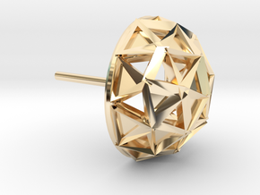 Icosphere Stud Earring in 14K Yellow Gold