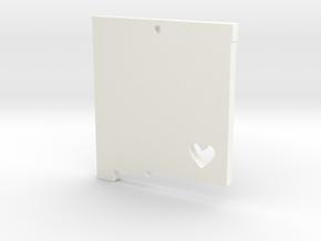 New Mexico Love Pendant in White Processed Versatile Plastic