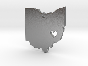 I love Ohio Necklace in Natural Silver