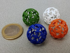 12-star ball in White Processed Versatile Plastic