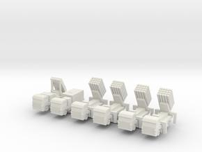 1/285 Iron Dome (x6) in White Natural Versatile Plastic