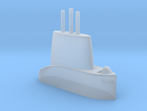 1/700 USS Torsk (SS-423) Submarine Sail in Smooth Fine Detail Plastic