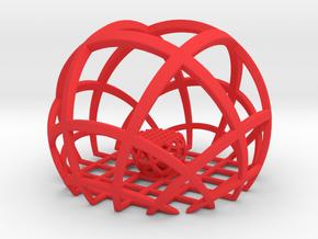 Fractal GB9  in Red Processed Versatile Plastic