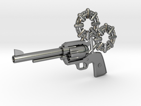 Revolver in Polished Silver