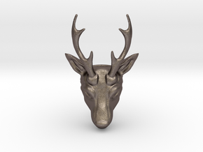 Deer by Metal in Polished Bronzed Silver Steel