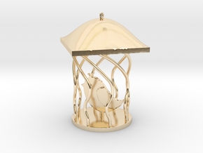 Bird Pendant in 14K Yellow Gold