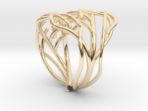 Tree ring in 14K Yellow Gold