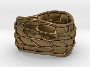 Panel Twist Ring (Sz 6) in Natural Bronze