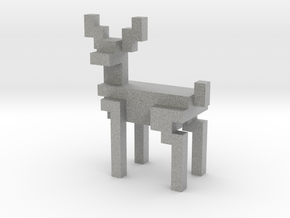 Big 8bit reindeer with sharp corners in Metallic Plastic