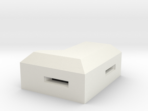 MG Pillbox 1 in White Natural Versatile Plastic