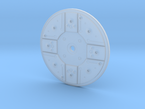 Y Wing Left Side Disk 2 Inch in Smooth Fine Detail Plastic