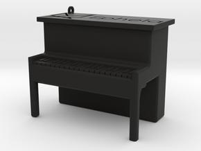 Piano Pendant in Black Natural Versatile Plastic