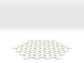 Flower Of Life 141125 in White Processed Versatile Plastic