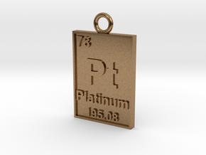 Platinum Periodic Table Pendant in Natural Brass