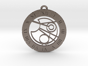 James - Pendant in Polished Bronzed Silver Steel
