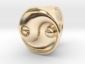 Yin Yang - 6.1 - Ring For Her - 16.5 Mm in 14K Yellow Gold