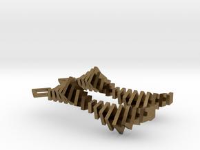 XVII² + XVII² Earrings in Natural Bronze