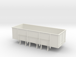 GWR N28 21T Mineral Wagon Body (00)  in White Natural Versatile Plastic