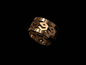 9 ring in 14K Gold