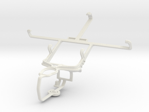 Controller mount for PS3 & ZTE Nubia Z5S in White Natural Versatile Plastic