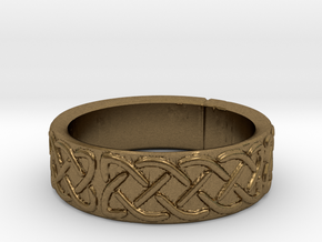 Celtic Knotwork Ring Small in Natural Bronze