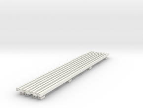 R-165-girder-bridge-rails-100-1a-x4 in White Natural Versatile Plastic