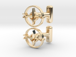 Compass Cufflinks, Part of the NEW Nautical Collec in 14K Yellow Gold