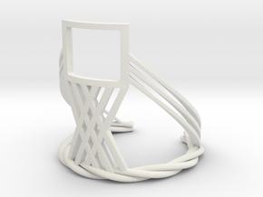 The Window (Bracelet) in White Natural Versatile Plastic