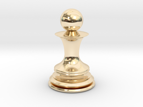 Chess Pawn in 14K Yellow Gold