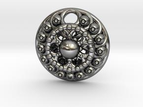Mandala Pendant 4 in Polished Silver