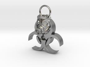Gasmask in Natural Silver