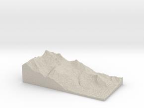 Model of Ovronnaz in Natural Sandstone