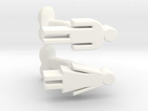 Stylized Male and Female Cufflinks, FUN set in White Processed Versatile Plastic
